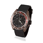 Zannetti Scuba Art Piranha Dive Watch - Black Dial - Stainless Steel Brown PVD