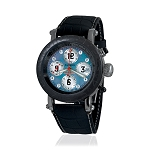 Zannetti Time of Drivers Elegance Blue MOP Chrono Watch - Black PVD
