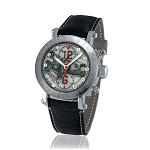 Zannetti Time of Drivers Pilots Black Ascari Chrono Watch