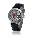 Zannetti Time of Drivers Pilots Red Ascari Chrono Watch