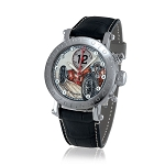 Zannetti Time of Drivers Pilots Fangio Red Chrono Watch