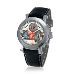 Zannetti Time of Drivers Pilots Farina Red Chrono Watch