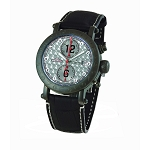 Zannetti Time of Drivers Racing Edition PVD Full Black Chrono Watch - Argente Dial