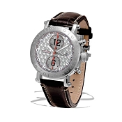 Zannetti Time of Drivers Racing Edition Silver Guilloche Chrono Watch