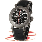 Zannetti Time of Drivers Full Black Mens Chrono Watch