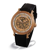 Zannetti Regent Brain Orgy 18k Gold Men's Watch - Brown
