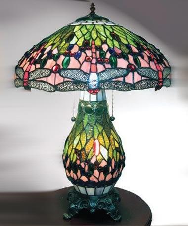 Green Dragonfly Tiffany Style Lamp