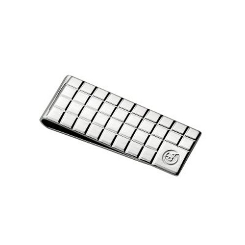 Cubes Silver-Plated Rhodium Coated Money Clip