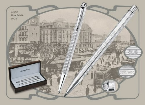 Ecridor 80th Anniversary Sterling Silver Pen Set by Caran d'Ache