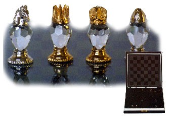 Executive Crystal Chess Set (Small)