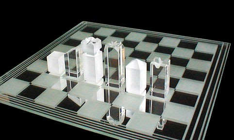 Handmade Quadrant Crystal Chess Set. Limited Edition of 100.