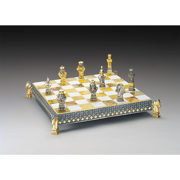 Poker Gold and Silver Themed Chess Board