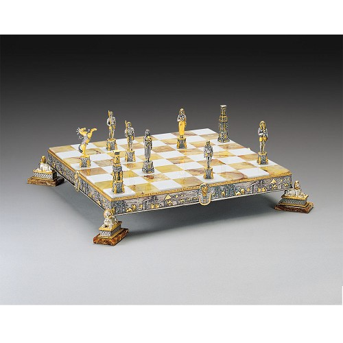 Handmade in 24kt gold and silver plated solid bronze using classic lost wax method.  (Item is the chessboard only. Chessmen available separately.)