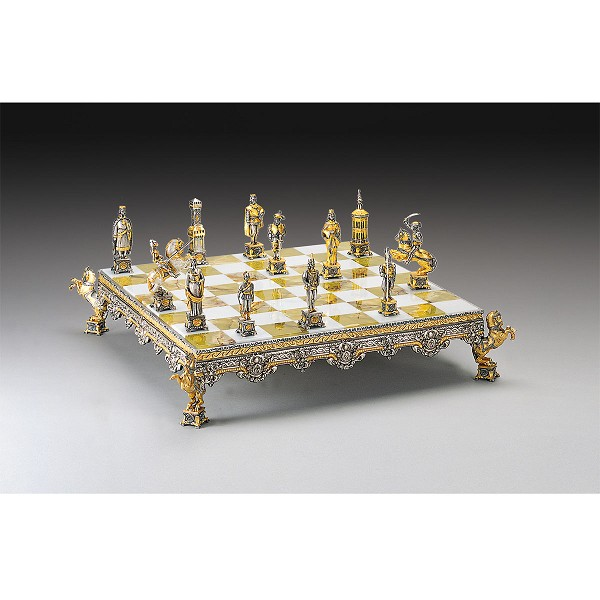 The Sack of Rome (1527) Themed Chess Set | Gold & Silver