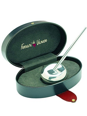 Ferrari da Varese Polished Sterling Silver Ball Point Pen Holder Set
