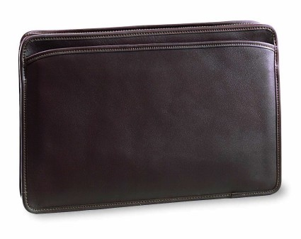 Jack Georges University Collection Top Zip Underarm Leather Briefcase