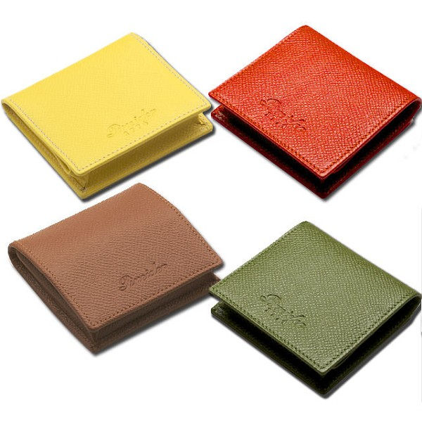 Pineider City Chic Leather Square Coin Purse