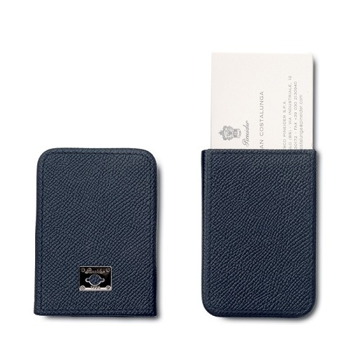 Pineider City Chic Leather Business Card Holder