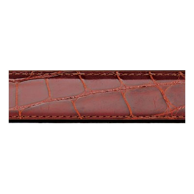 Cognac Genuine Alligator Men's Dress Belt