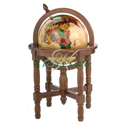 Maple Wood Floor Globe - 17 Inch