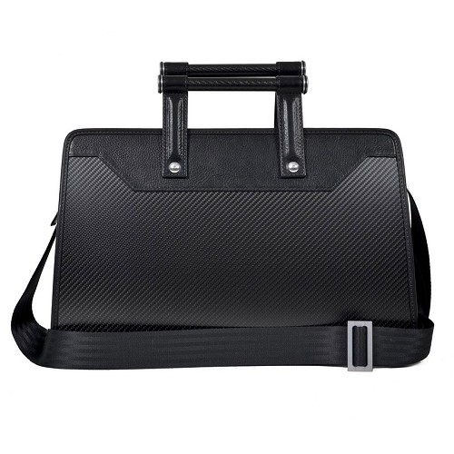 The Aznom Carbon Business 24h Bag is crafted in carbon fiber and leather.