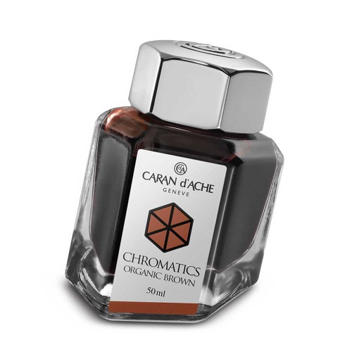 Ink Bottle Organic Brown 50 Ml. The science of colors by Caran d'Ache.