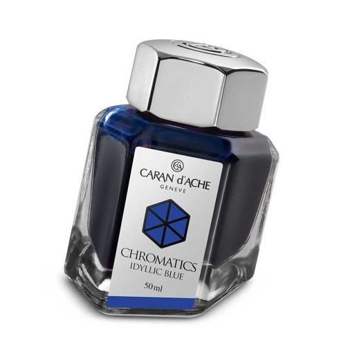 Ink Bottle Idyllic Blue 50 Ml. The science of colors by Caran d'Ache.