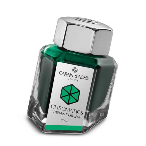 Ink Bottle Vibrant Green 50 Ml. The science of colors by Caran d'Ache.