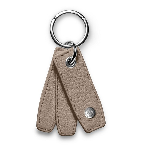 Leman Leather key ring handmade in cashmere grained luxury calfskin.