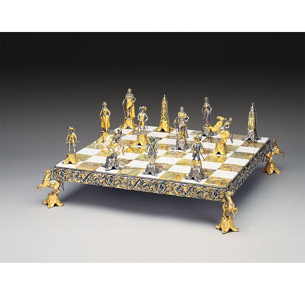 Louis XIV - Sun King ( From 1643) Gold and Silver Chess Set