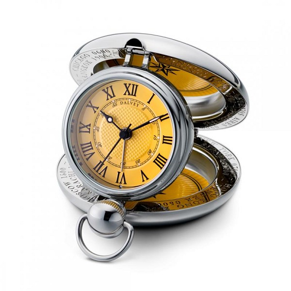 Dalvey New Voyager Clock - Yellow