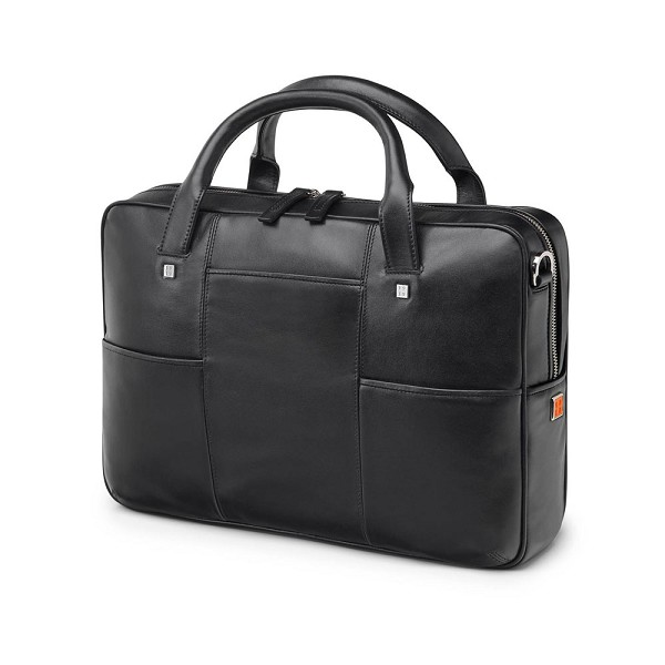 27fe04348bd0 Fedon 1919 British BT-FILE Leather Document Laptop Bag - Black