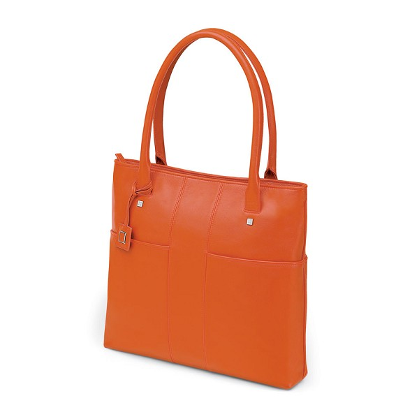 fe11265ea67d Fedon 1919 British BT-SHOPPER-VERT Women s Orange Leather Laptop ...