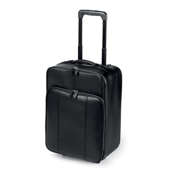 257bf8356151 Fedon 1919 British BT-TROLLEY Black Leather Travel Bag