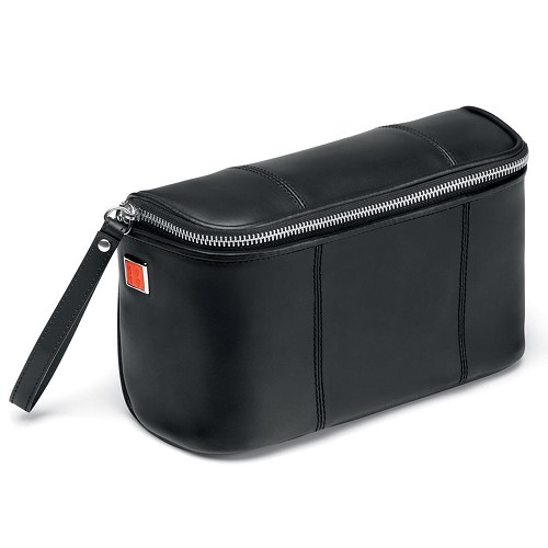 Fedon 1919 British BT-BEAUTY Leather Toiletry Bag in Black nappa calfskin.