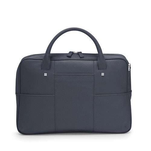 Fedon 1919 British BT-FILE Leather Laptop Bag in blue calfskin.