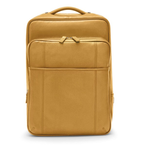 9c3b99749c78 Fedon 1919 British Deluxe BT-BACKPACK - Yellow Leather Backpack