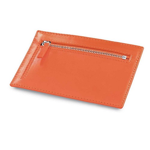 Fedon 1919 Classica P-CARDS-ZIP Multi-Card Holder Wallet is available in Black or Orange.
