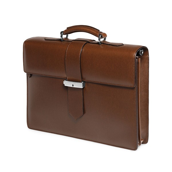 c279dafe2cd5 Fedon 1919 Classica CLASS-2 Brown Leather Briefcase