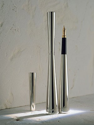 Ferrari da Varese Clessidra Polished Silver and Gold Plated Pens