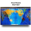 Ham Radio Mapset - A specialty print with DX zones, and International Prefixes.