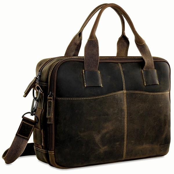 9d2d17d3f075 Jack Georges Arizona Leather Zippered Laptop Briefcase  A4230