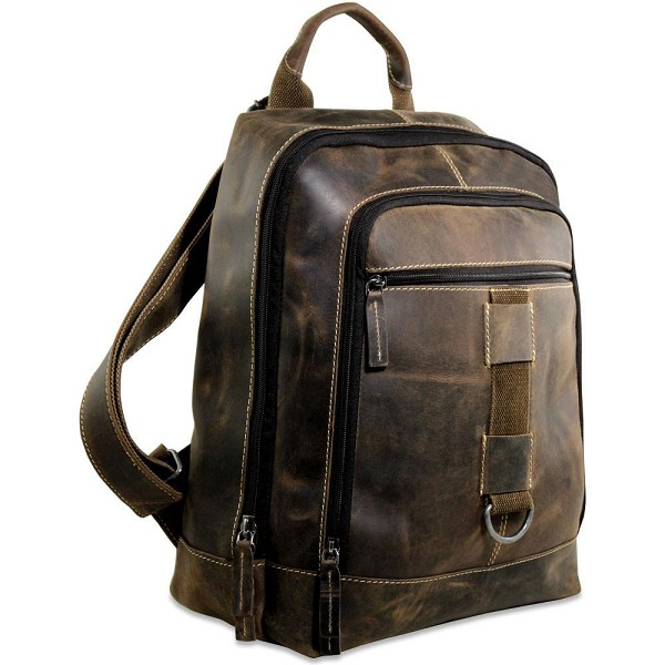 c12602b115d3 Jack Georges Arizona Leather Laptop Backpack  A4516