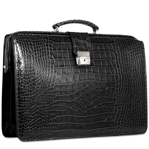 Jack Georges Croco Classic Briefbag Leather Briefcase