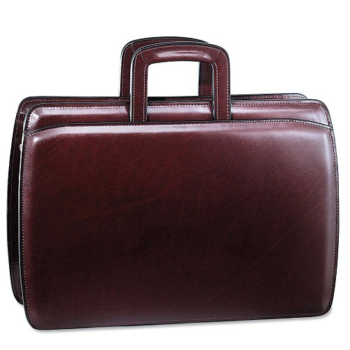 Jack Georges Elements Professional Briefcase #4202 in Burgundy leather.