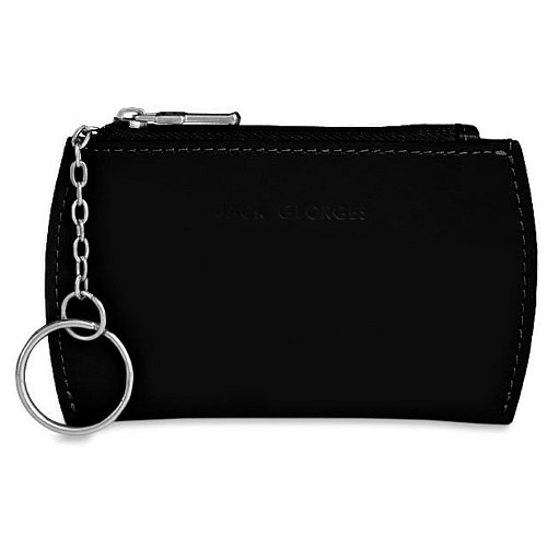 Milano Keychain with Card Holder/Change Purse in scratch resistant black Italian leather.