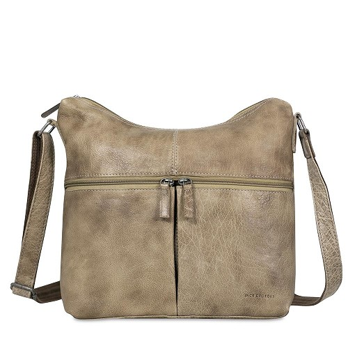 Voyager Uptown Hobo Bag for women handmade in hand-stained buffed slate buffalo leather.