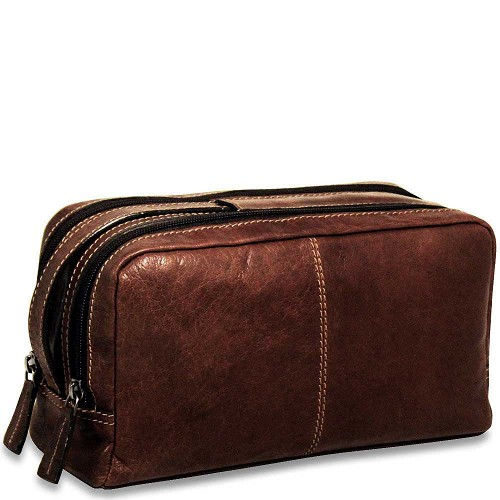 Jack Georges Voyager Toiletry Bag in vegetable re-tanned buffalo leather.