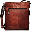 Jack Georges Voyager Crossbody Bag #7312 in brown buffalo.