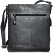 Jack Georges Voyager Crossbody Bag #7312 in slate grey buffalo.